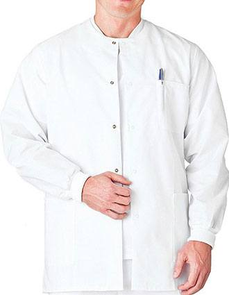 White Swan Fundamentals Men's Warm-Up Scrub Jacket-WH-14160