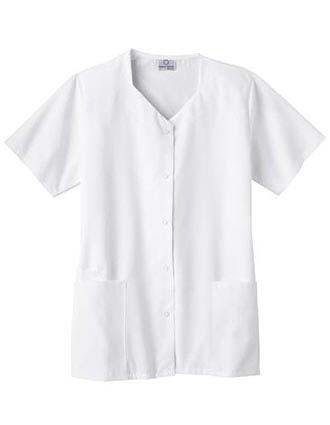 White Swan Fundamentals Women Quill Heart Scrub Top-WH-14212