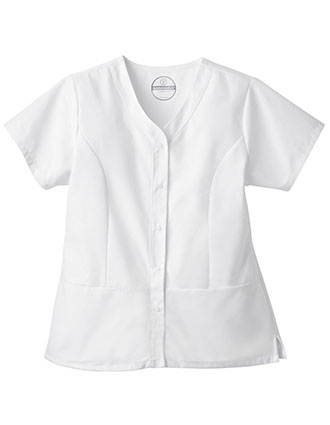 White Swan Fundamentals Women's Snap Front Top