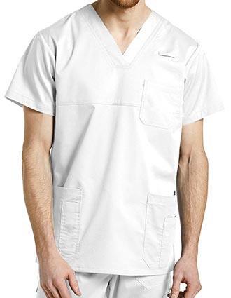 Whitecross Allure Men's Solid Scrub V-neck top