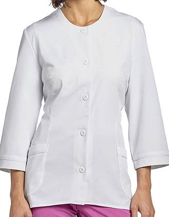 White Cross Marvella Women's Jewel Neckline Lab Jacket