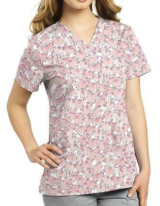 White Cross Women's Charlotte Print Fashion V-Neck Top