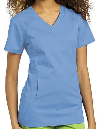 White Cross Allure Women's V-Neck Nursing Scrub Top