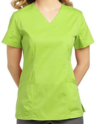 White Cross Allure V-Neck Basic Nursing Top