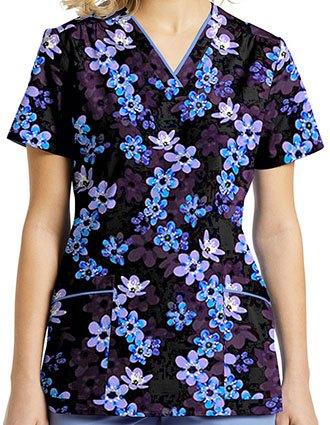 White Cross Women's Twilight Blossom Printed V-Neck Top