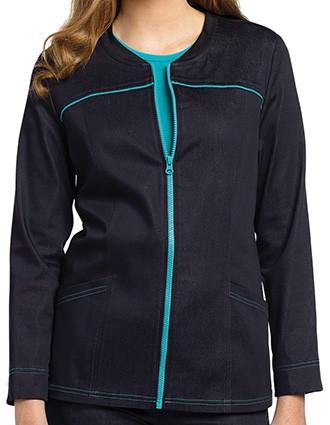 White Cross Women's Denim Zip front jacket