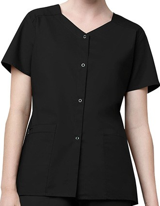 WonderWink WonderWork Women's Short Sleeve Snap Jacket-WI-200