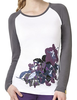 WonderWink Layers Women's Nightshade Round Neck Tee