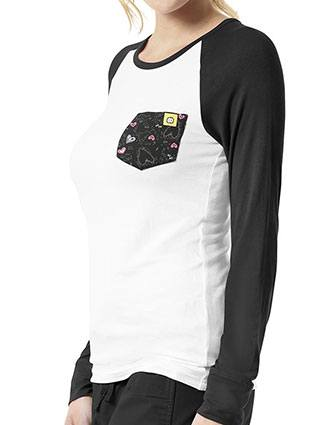 WonderWink Layers Womens Baseball Tee With Pocket