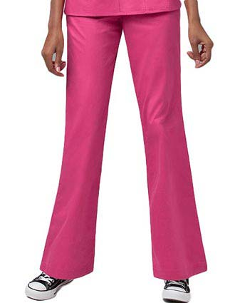 Wink Scrubs Women Petite Solid Flare Leg Fashion Nursing Pants