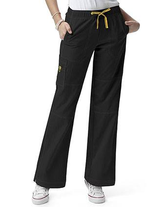 Wink Scrubs Women Sporty Cargo Solid Nursing Pants-WI-5214