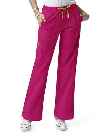 Wink Scrubs Women Petite Sporty Cargo Solid Nursing Pants