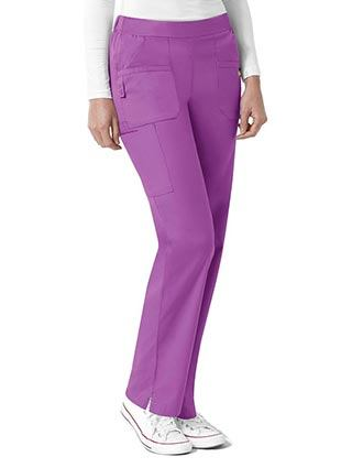 WonderWink Next Women's Madison Elastic Waist Scrub Petite Pant