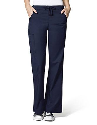 Wink Scrubs WonderFlex Lady Fit Flare Leg Cargo Nurse Scrub Pants-WI-5308