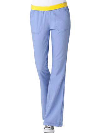 Wink Scrubs Women Flip Flare Leg Solid Nursing Pants-WI-5314