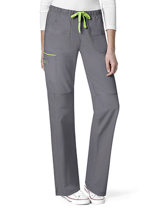 Wonderwink Wonderflex Women's Joy-Denim Style Straight Petite Pant