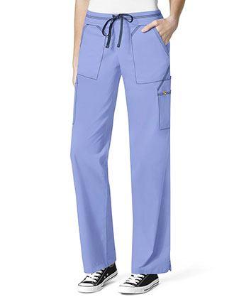 WonderWink Seven Flex Women's 7 Utility Pockets Cargo Scrub Pant