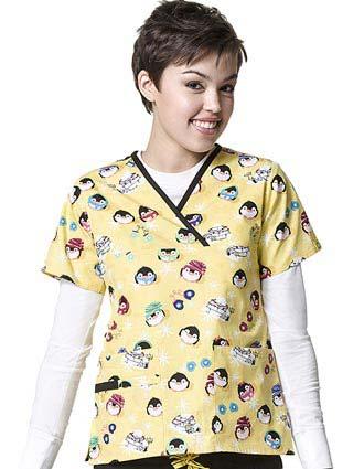 Wink Scrubs Origins Prints WonderWobbles Nurse Scrub Top