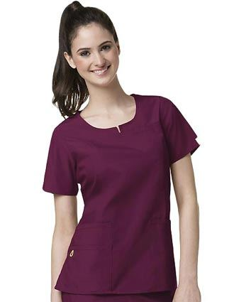 Wink Scrubs Women Notched Round Neck Nursing Top-WI-6046