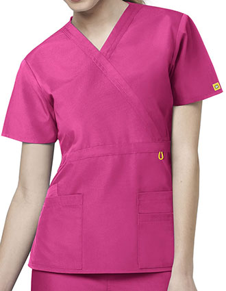 Wink Scrubs Women The Golf Mock Wrap Nursing Top-WI-6056