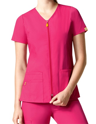 WonderWink Origins Women's The Kilo Zip Front Short Sleeve Jacket-WI-6086