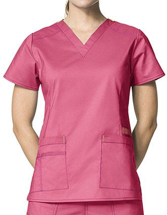 Wink Scrubs Lady Fit V-neck Nursing Scrub Top-WI-6108
