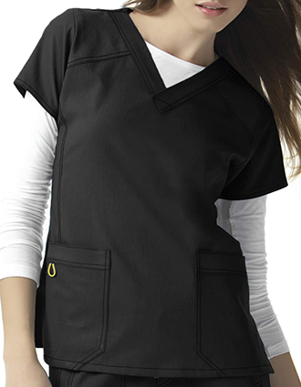 Wink Scrubs Women Sporty V-Neck Nursing Top-WI-6214