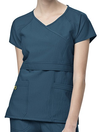 Wink Scrubs Women Raglan Sleeve Mock Wrap Nursing Top-WI-6314