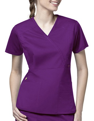 Wink Scrubs Women Mock Wrap Multi-Pocket Nursing Top-WI-6402