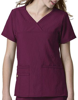 Wink Scrubs Women Solid Y-Neck Multi-Pocket Nursing Top-WI-6414
