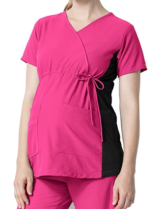 Wink Scrubs Women's Maternity Mock Wrap Top-WI-6445