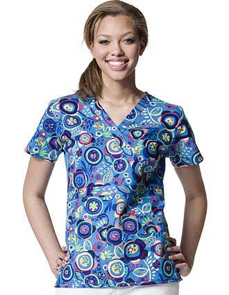 Buy Winkscrubs Origins Prints X Static Nursing Scrub Top