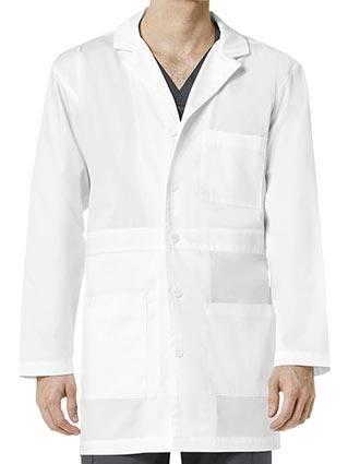 Wonderwink Wonderwork Men's Basic Button Down Front Lab Coat
