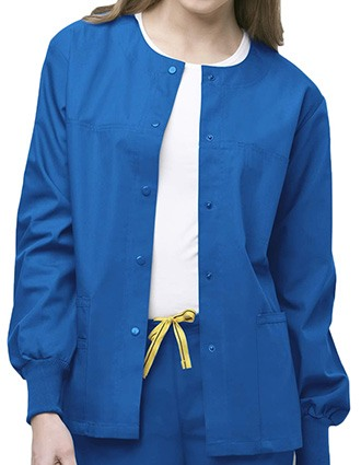 Wink Scrubs Unisex The Delta Round Neck Nursing Jacket-WI-8006