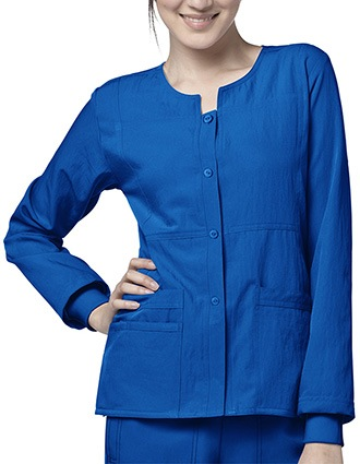 Wink Scrubs Women Sporty Button Front Nursing Jacket-WI-8114