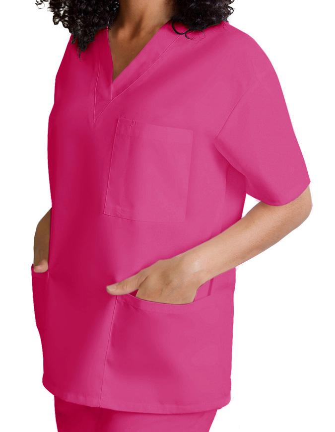 Adar Unisex V-Neck Three Pockets Nursing Scrub Top