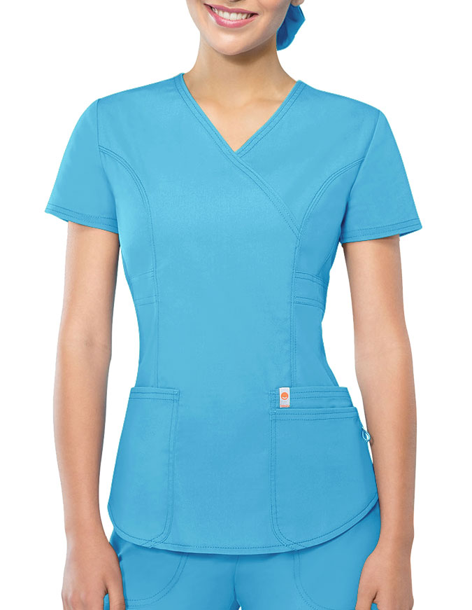 Certainty Antimicrobial Women's Mock Wrap Top