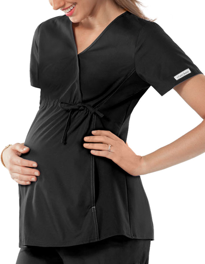 Cherokee Maternity Wrap Nurse Scrub Top