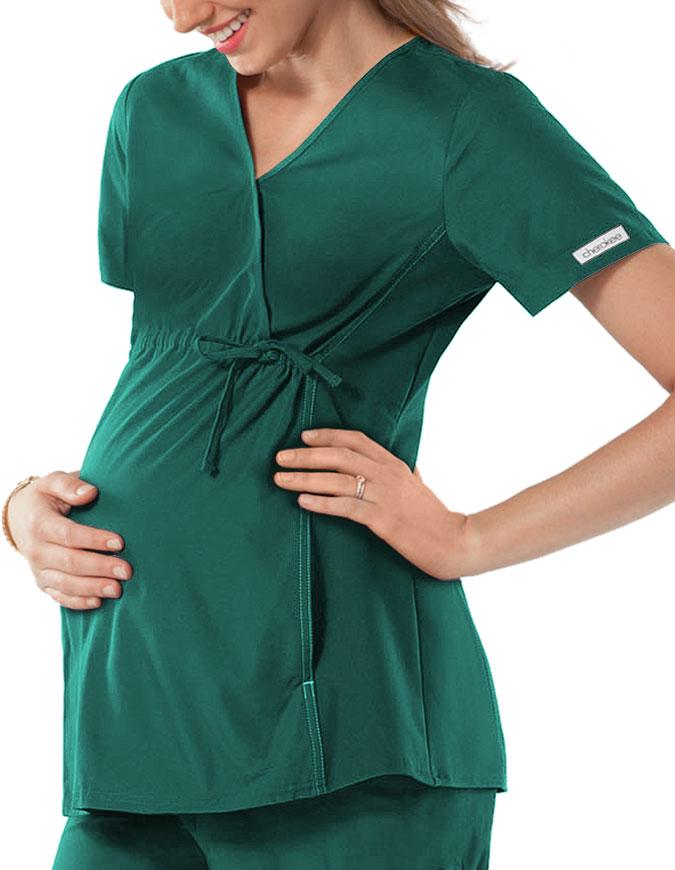 Cherokee Maternity Wrap Nurse Scrub Top