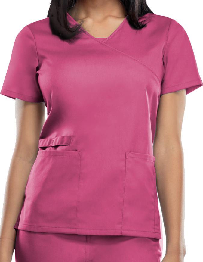 Cherokee Workwear WW Flex Women's Mock Wrap Top