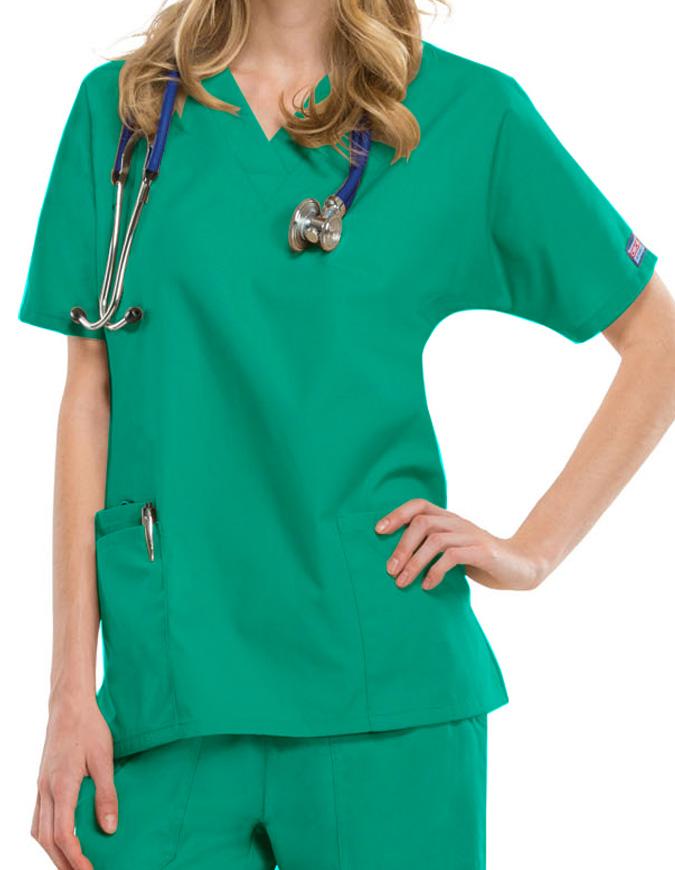 Cherokee Workwear Women's Two Patch Pockets Nurse Scrub Top