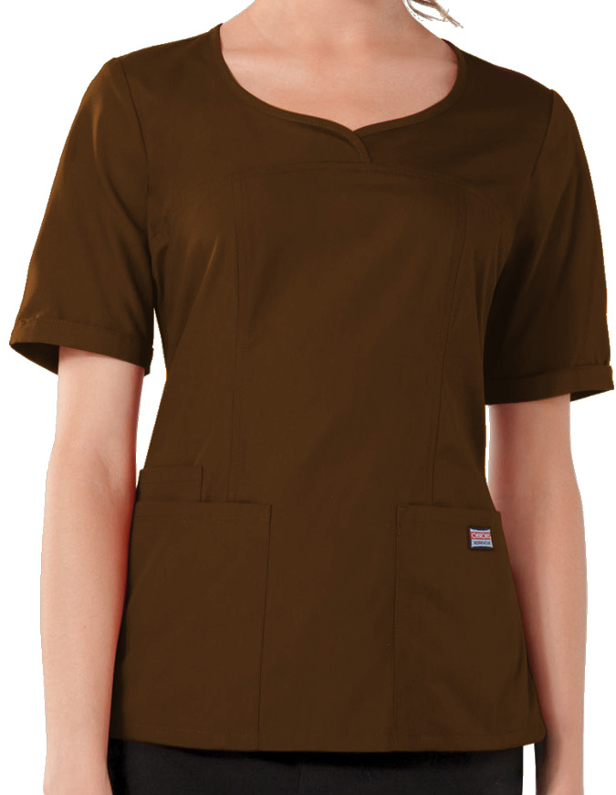 Cherokee Workwear Women's Three Pocket V-Neck Top