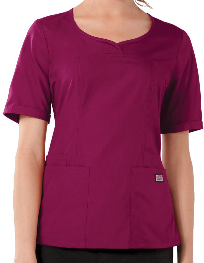 Cherokee Workwear Women's Three Pocket V-Neck Top