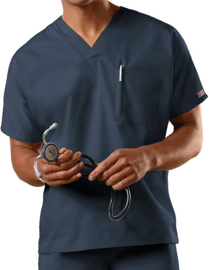 Cherokee Workwear Unisex V-Neck Single Pocket Scrub Top