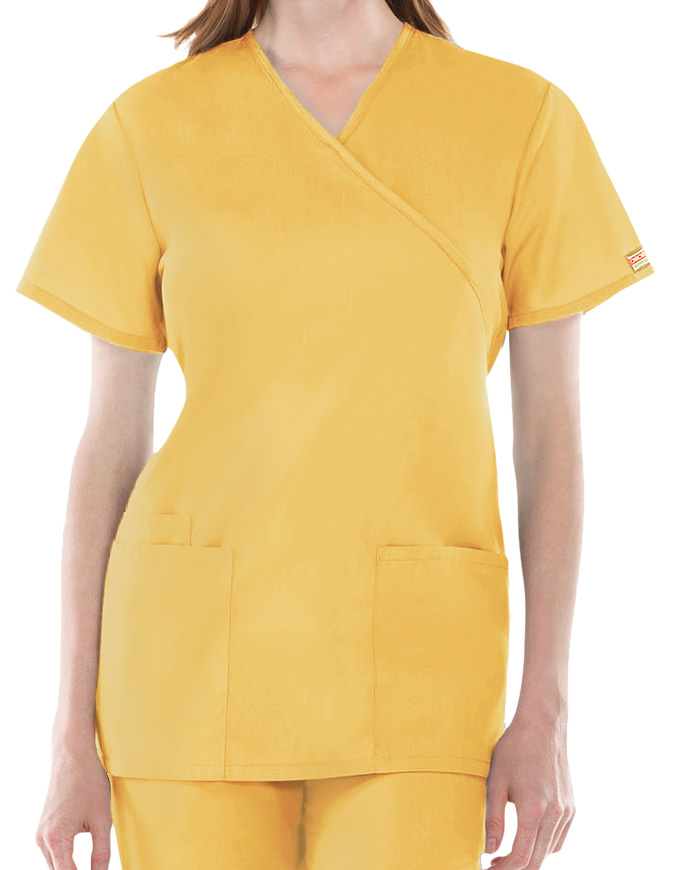 Cherokee Workwear Womens Three Pocket Scrub Top