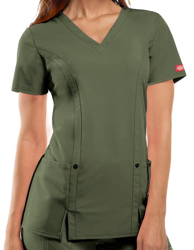 Dickies Xtreme Stretch Junior V-Neck Nursing Scrub Top