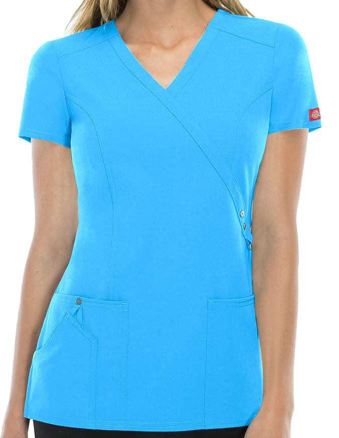 Dickies Xtreme Stretch Women's Junior Fit Mock Wrap Top