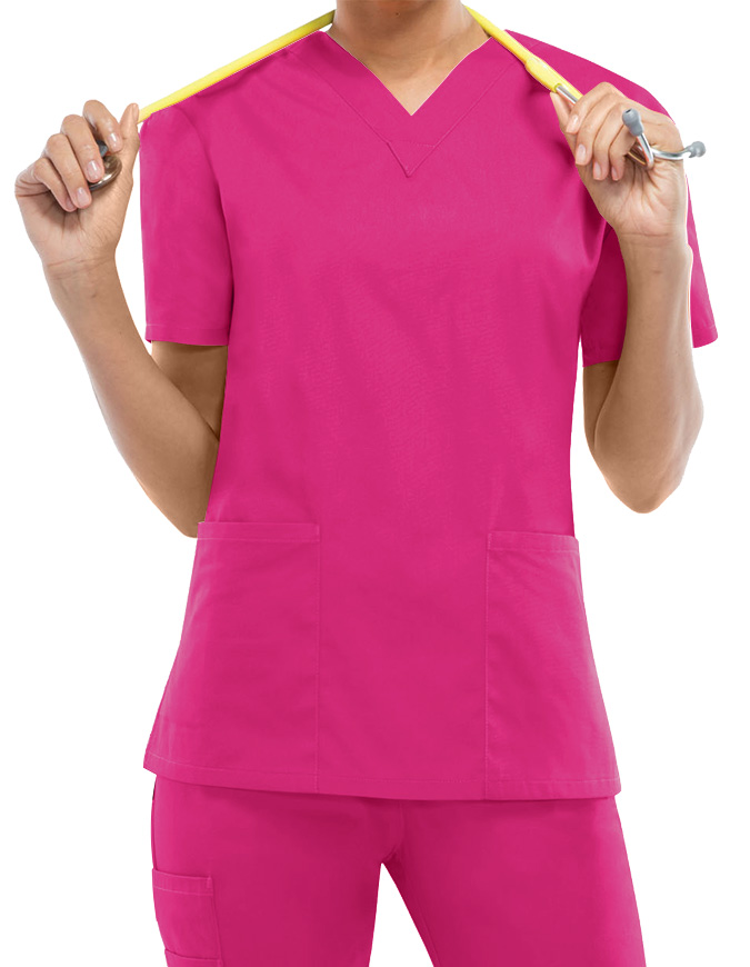 Dickies EDS Women's V-Neck Nursing Scrub Top