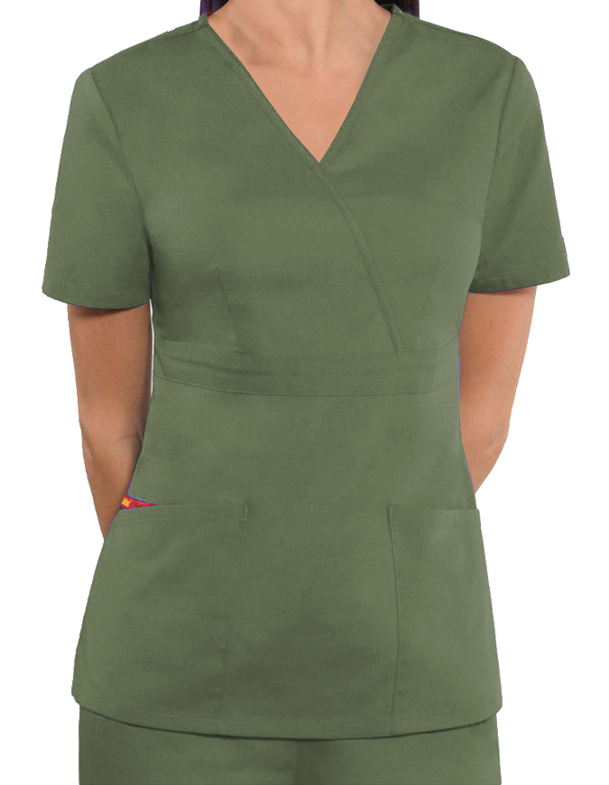 Dickies Women's EDS Mock Wrap Nursing Scrub Top