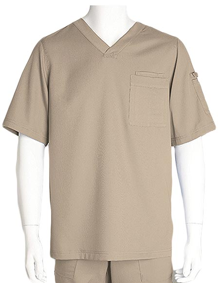 Grey's Anatomy Mens Three Pocket V-neck Scrub Top